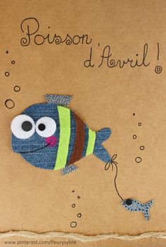 Poisson d'Avril !! #jeans #recycle Recyclage des pantalons https://pinterest.com/fleurysylvie/mes-creas-la-collec/ et www.toutpetitrien.ch