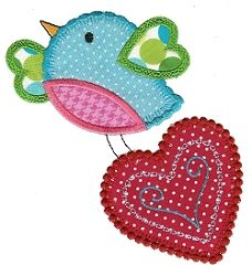 Love Birds Applique 2, SWAK Pack - 2 Sizes! | Valentine's Day | Machine Embroidery Designs | SWAKembroidery.com Designs by Juju