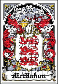 McMahon Family Crest apparel, McMahon Coat of Arms gifts