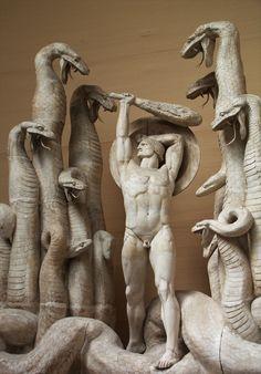 Hercules and the Hydra. 1918. Rudolph Tegner. Danish 1873-1950. plaster. http://hadrian6.tumblr.com