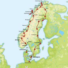 European Road Trip, Road Trip Europe, Travel Europe, Norway Roadtrip, Holidays In Norway, Trekking, Road Routes, Sweden Travel, Scandinavian Countries
