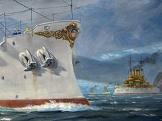 The Great White Fleet in the Straits of Magellan