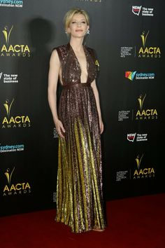 Cate Blanchett In Sexy Sequin Gown at 3rd Annual AACTA Awards