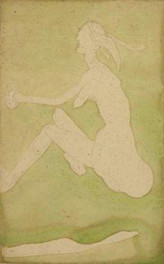 Joseph Beuys : 'White Woman in the Grass (Fairy)' 1954...K