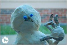 How to make a paper mache mummy