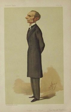1887 Sir Morell Mackenzie, a specialist and pioneer in Laryngology, wrote books and founded the Hospital of the Throat. Chromolithograph by Ayre. Featured in Vanity Fair.
