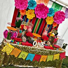 Thank You for having us NoemiHappy Birthday Illiana! Thank You for having us Noemi Mexican Birthday Parties, Mexican Fiesta Party, Fiesta Theme Party, First Birthday Parties, Birthday Party Themes, Birthday Table, Birthday Recipes, Birthday Ideas, Frida Kahlo Birthday