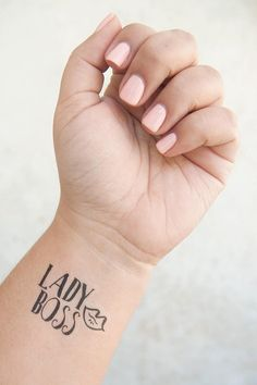5871219bdd9bc Lady Boss Tattoo - Temporary Tattoos - Boss Lady Gifts - Female Empowerment  - Boss Babe