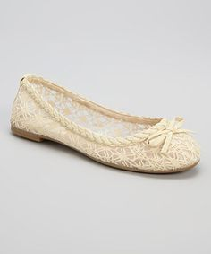 Love this Beige Lace Flat by Ositos Shoes on #zulily! #zulilyfinds $5.99 was $45.00