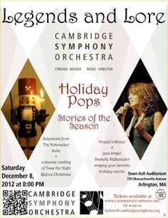 Cambridge Symphony Orchestra - Holiday Pops, The Stories of the Season, Friday, December 8, 2012