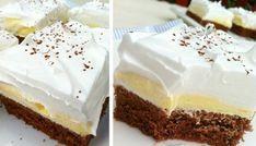 Famózní krémový zákusek | NejRecept.cz Sweet Desserts, Sweet Recipes, Little Cakes, Pavlova, Something Sweet, Baking Tips, No Bake Cake, Vanilla Cake, Sweet Tooth