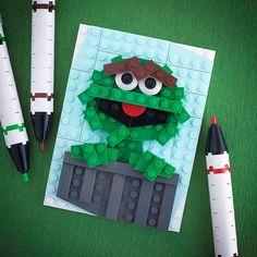 I Love Trash! Lego card