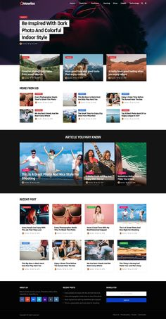 Magazine Website. Premium WordPress Blog Theme with clean design and fully responsive layout. News, Fashion, Travel and Sport Mag. Magazine Website Design Layout. WordPress Online Template Inspiration. General News, Fashion News, Women Health, Men Health, Style or Gossip News.