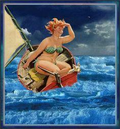 Gordita navegando