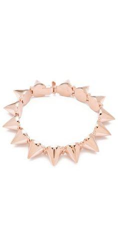 Rose gold spiked bracelet