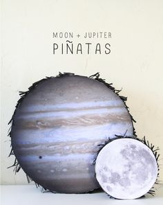 Planet & moon pinatas ... for use if CJP wants an Angry Birds Space party!