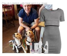 """""""Day in London with Niall and our dogs"""" by fanny483 ❤ liked on Polyvore featuring H&M, Marc Jacobs, Monki and adidas"""