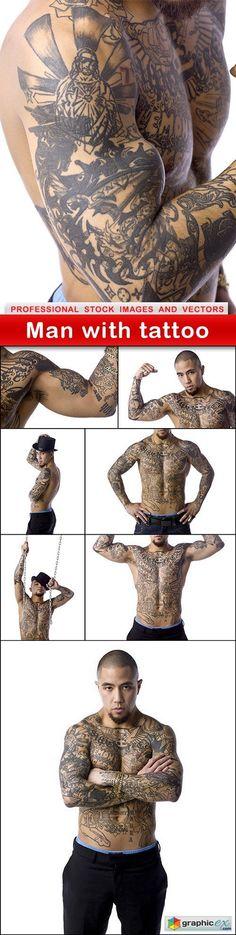Man with tattoo - 8 UHQ JPEG