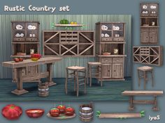 Rustic Country Set http://www.thesimsresource.com/downloads/details/category/sims4-sets-objects-miscellaneous/title/rustic-country-set-/id/1320072/