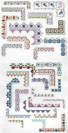 Punto De Cruz Counted Cross Stitch Design: Bountiful Borders - Crafting For Holidays Cross Stitch Boarders, Counted Cross Stitch Patterns, Cross Stitch Charts, Cross Stitch Designs, Cross Stitching, Cross Stitch Embroidery, Embroidery Patterns, Hand Embroidery, Cross Stitch Flowers Pattern