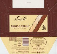 Mousse au chocolat  Milchschokolade mit dunkler Füllung 1991 Mousse, Milky Bar Chocolate