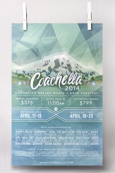 Graphic Design USA Magazine Award Winner // School of Advertising Art Grad Liz Anderson: Coachella Event Poster http://www.saa.edu/gdusa-2015-winners/