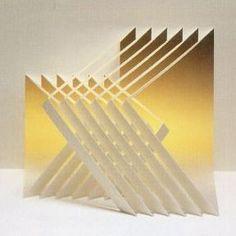 Libros Pop-Up Books Cards: Descarga Gratis Libro Phantastische Papier (Kirigami)… Origami And Kirigami, Origami Paper Art, Diy Paper, Paper Crafts, Printable Origami Instructions, Kirigami Tutorial, Folding Architecture, Module Design, Paper Structure