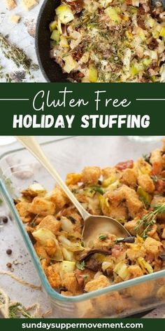 Gluten Free Stuffing is the perfect side dish for the holidays, and best of all, everyone can enjoy this deliciously festive stuffing recipe! #SundaySupper #glutenfree #glutenfreerecipe #glutenfreestuffing #stuffing #thanksgiving #thanksgivingstuffing #holidaystuffing #sidedish Gluten Free Stuffing, Stuffing Recipes, Turkey Recipes, Thanksgiving Stuffing, Thanksgiving Recipes, Easy Holiday Recipes, Sunday Suppers, Vegetable Side Dishes, Gluten Free Recipes