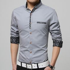 - Mens edgy outline design dress shirt for the stylishmen - Beautiful design offers a cute stylish look - Perfect for special occasions or parties - Made from high quality material - Available in 5 colors