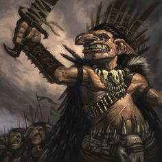 Goblin Warlord by faxtar.deviantart.com on @deviantART