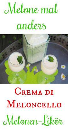 Crema di Meloncello – ja ganz genau MELONCELLO und nicht LIMONCELLO. Das ist ein richtig leckeres Likörchen. Melone eingelegt in hochprozentigen Alkohol und dann mit Milch, etwas Sahne und Vanille im Thermomix gemixt (geht auch im Mixer).