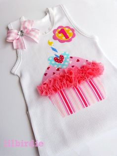 Items similar to Birthday Tank Birthday Singlet Custom Number or Initial on Etsy Baby Tutu, Baby Dress, Sewing For Kids, Baby Sewing, Frocks For Girls, Girls Dresses, Kids Dress Wear, Frock Fashion, Baby Boutique