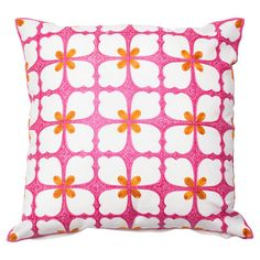Pairing floral inspiration with geometric appeal, this lovely cotton pillow cover adds a pop of color to your living room sofa or guest bedding....