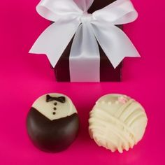 Bride And Groom Chocolate Truffle Wedding Favors Chocolates Favours