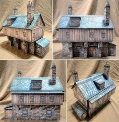Inventor's House Paper Model - Dave Graffam Models | DriveThruRPG.com