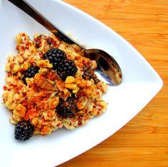 Quinoa & Blackberry Vanilla Oatmeal. Amazingly Delicious & Healthy Breakfast Recipe!! Enjoy! :)