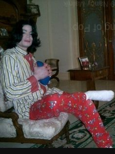 MJ - Loves his pajamas. Hehe. Cute!