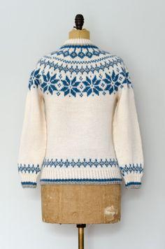 Vintage Dale of Norway Snowflake Sweater // Made in Norway