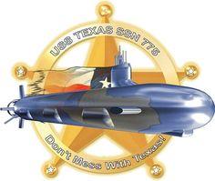 USS Texas (SSN 775) Ship Crest