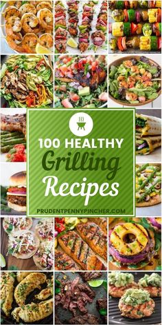 100 Healthy Grilling Recipes From grilled salmon tacos and shrimp kabobs to turkey burgers and grilled vegetables, there are plenty healthy grilling recipes to last you all summer long! Healthy Grilling Recipes, Grilled Steak Recipes, Healthy Summer Recipes, Cooking Recipes, Grilling Tips, Grill Recipes, Shrimp Recipes, Cooking Tips, Clean Eating Snacks