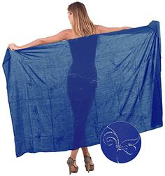 Sarong Bathing Suit Swimsuit Swimwear Beach Bikini Cover up Rayon Embroidered Twitter Blue Free Size One Size Spring Summer 2017 >>> You can find out more details at the link of the image.  This link participates in Amazon Service LLC Associates Program, a program designed to let participant earn advertising fees by advertising and linking to Amazon.com.