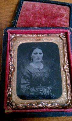Antique Daguerreotype Mourning Photo of Beautiful Woman / Antique Photograph / Pre-Civil War Photo / Victorian Photograph. $250.00, via Etsy.