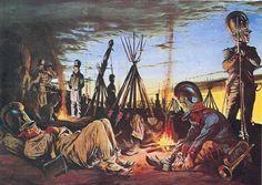Vivac nocturno de la Grande Armée. Infantería bávara. Más en www.elgrancapitan.org/foro