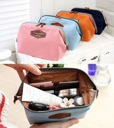 Travel Toiletry Wash Cosmetic Bag Makeup Storage Case Grooming Organizer Pouch