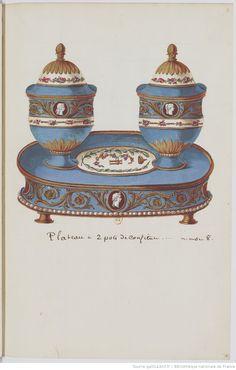 Dessins et devis du Service de Porcelaine pour l'Impératrice de Russie. 1778 : [dessin] | Gallica
