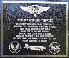 Military Nurse: Flight nurses plaque, WW2