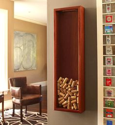 Brazilian Cherry Wine Cork Frame Skinny. Eco-friendly and sustainably harvested on the slopes and riverbanks of Brazil and the Caribbean, the finest cherry wood is chosen for rich grain and durability, then stained and sealed for lasting beauty.