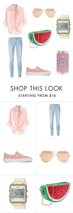 """Sem título #36"" by talita-cremasco on Polyvore featuring beleza, Frame Denim, Vans, Linda Farrow e GUESS"