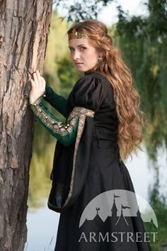 """Medieval black flax overcoat """"FOREST PRINCESS"""" :: ArmStreet"""