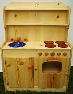 Wood Play Kitchen Set elves & angels susan's wooden toy play kitchen | great finds